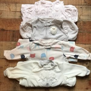 Four Size M (6-9 months) sleep sacks